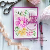 Pretty in Pink for the Flower Challenge!