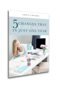 """""""5 Changes That Doubled My Income in Just One Year"""" Free E-book"""
