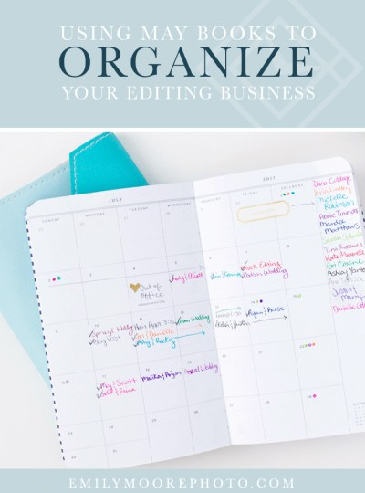 Using May Books to Organize Your Editing Business