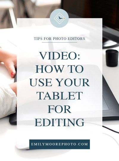 Video: How to Use Your Tablet for Editing
