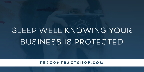 Sleep Well Knowing Your Business is Protected with Contracts | The Contract Shop | Emily Moore Photo