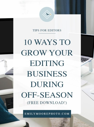 10 Ways to Grow Your Editing Business During Off-season | Free Download