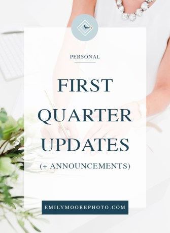 Quarter One Updates (& Announcements) | Emily Moore | Private Photo Editor