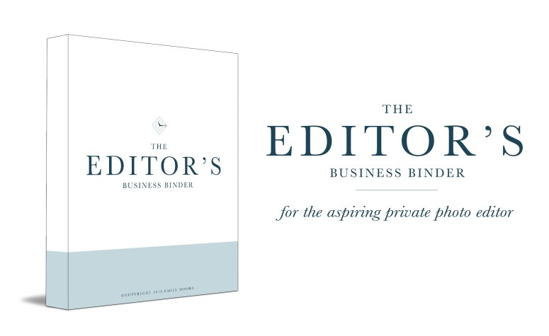 The Editor's Business Binder | The Shop by Emily Moore | Private Photo Editor