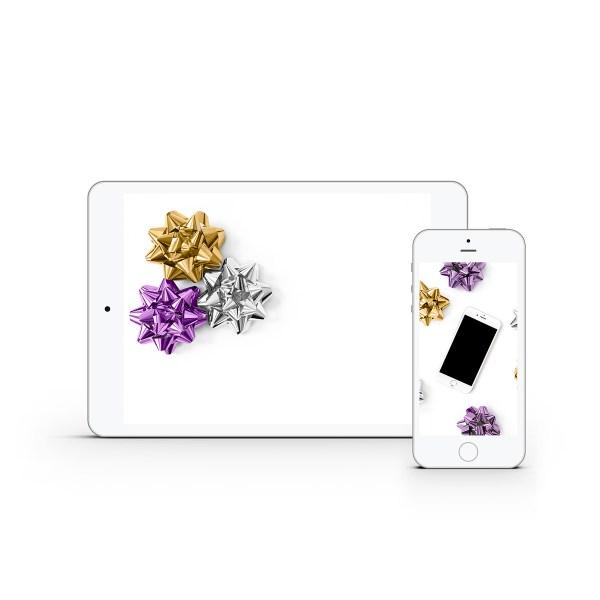 Purple & Gold Bow Styled Stock Bundle | Emily Moore | www.emilymoorephoto.com