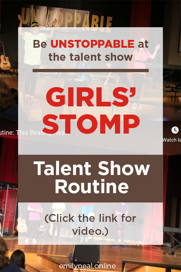 Girls Stomp Talent Show Routine