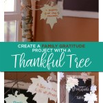 Create a family gratitude project with a thankful tree