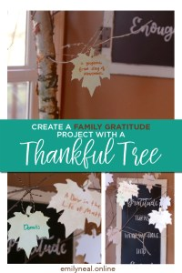Create a family gratitude project with this Thankful Tree