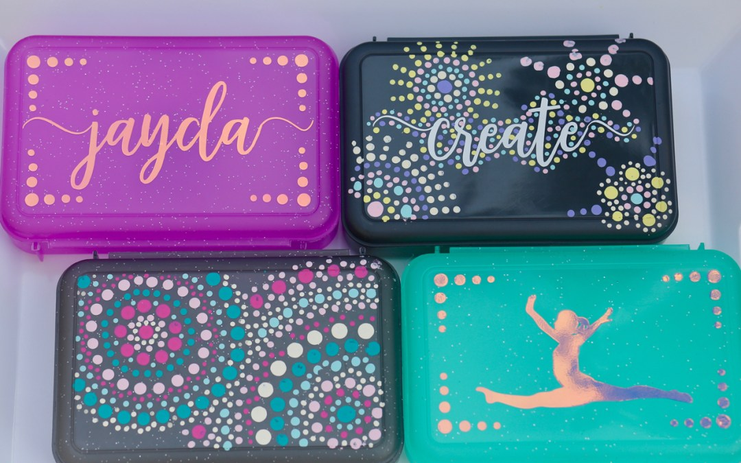 Decorating school supplies with paint and vinyl
