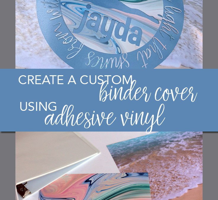 Create a personalized binder with patterned vinyl