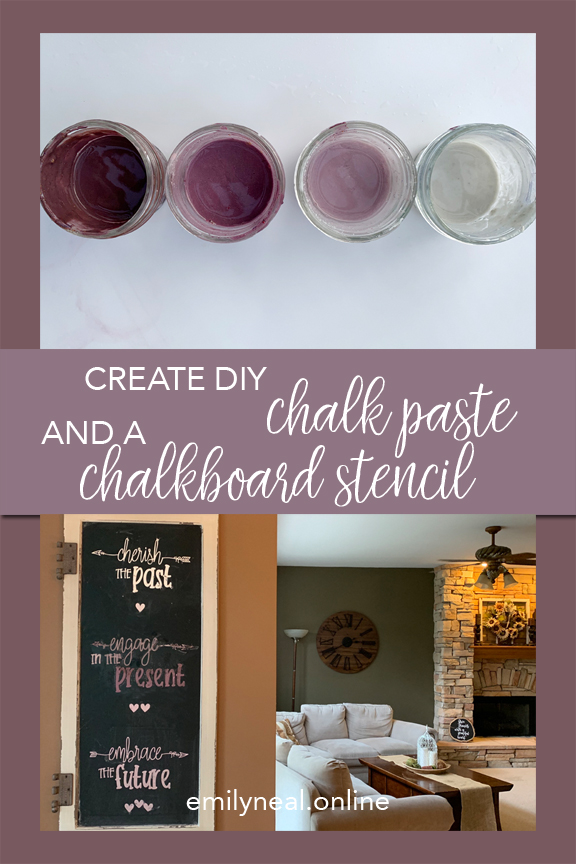 DIY chalk paste and chalkboard stencil