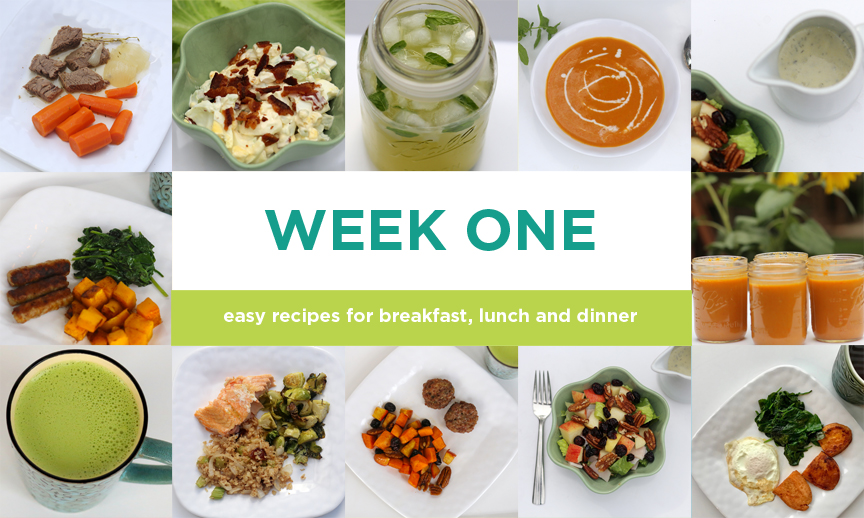 Four-week Paleo Meal plan: Week One