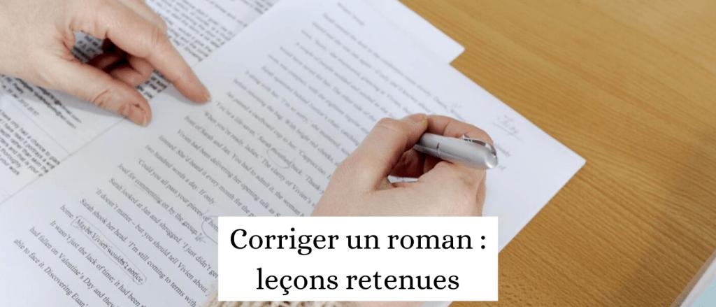 Comment corriger un roman