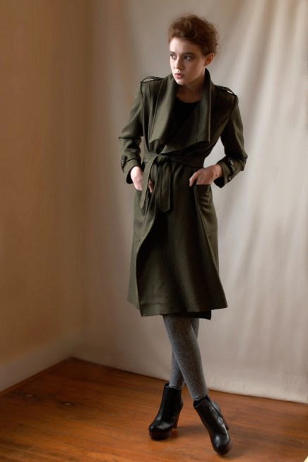 Hemp/Tencel Wrap Coat