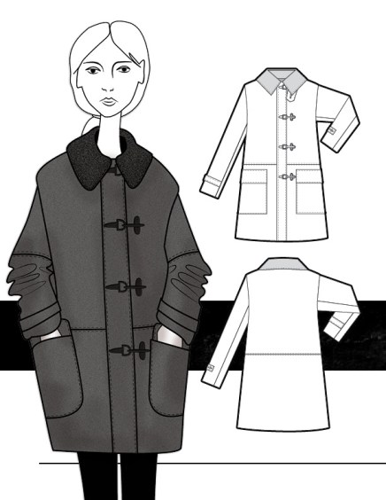 Wool Coat with Metal Toggles