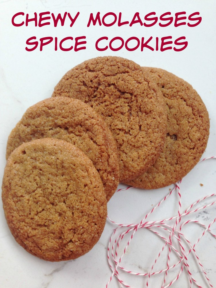 Easy cookie swap recipe-- Chewy Molasses Spice Cookies