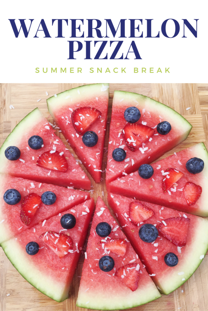 Watermelon Pizza Snack Idea Delicious Summer Recipe