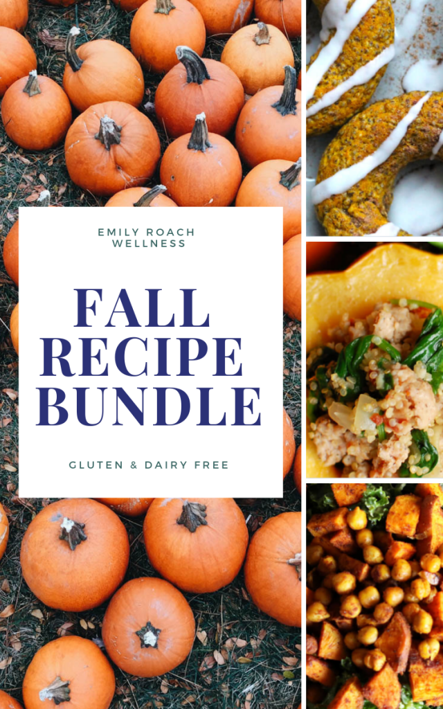 fall recipe bundle gluten and dairy free