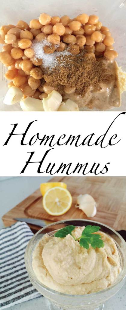 Lemon garlic easy hummus recipe