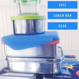 Plastic free lunch box gear kids back to school