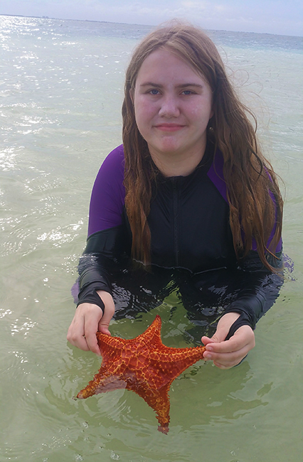 Blog: Teenager in Starfish Point Cayman Islands Caribbean