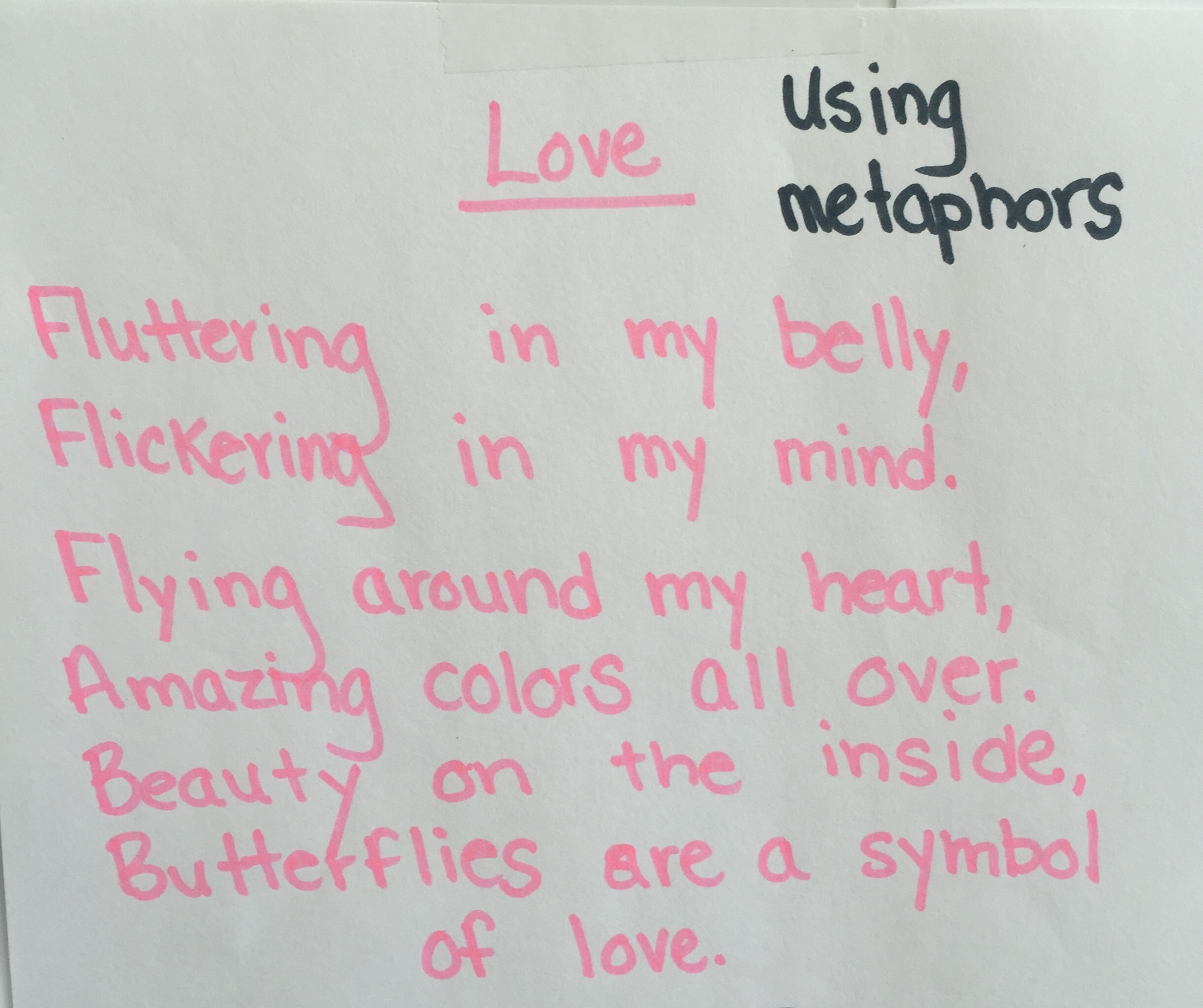 An Old Poem About Butterflies Using Metaphor