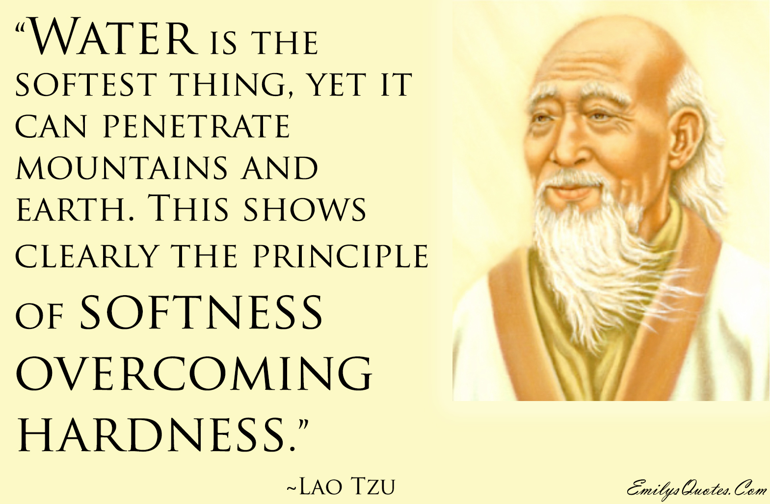 Image result for lao tzu water is the softest