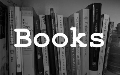 """A shelf full of books with """"books"""" written over top"""