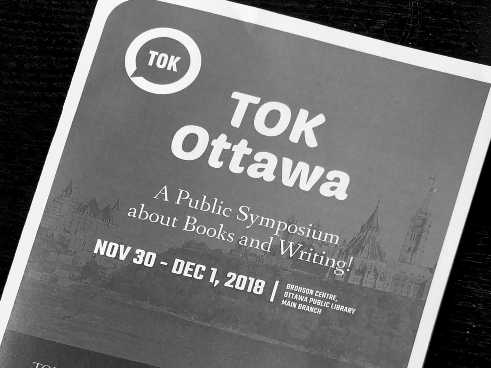 TOK Ottawa Symposium program (a paper booklet)
