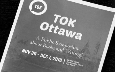 TOK Ottawa Symposium program (a paper booklet)