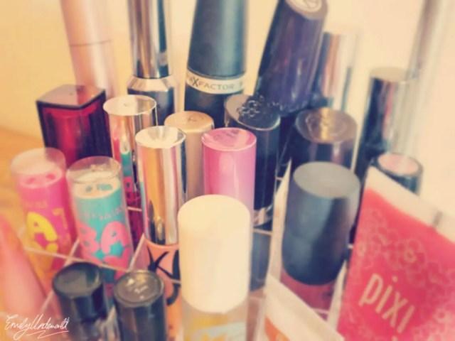 Clear Plastic Makeup Storage