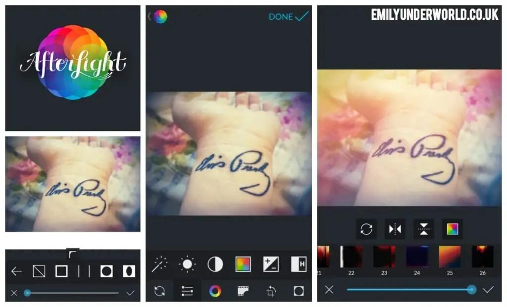 Afterlight App Screenshots