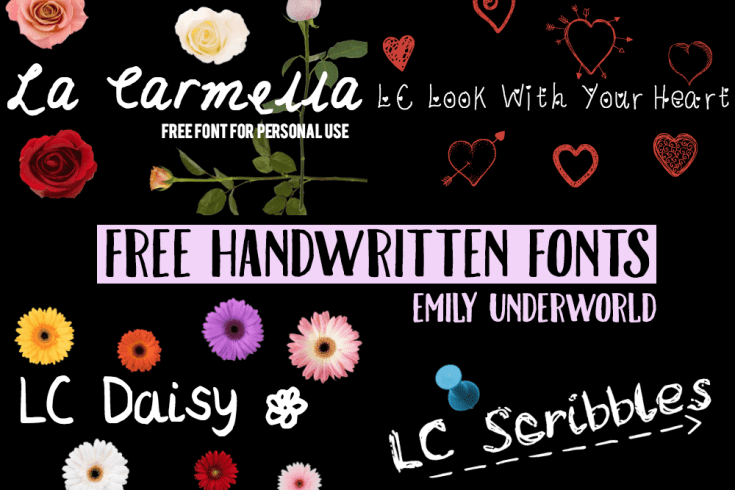 Free Handwritten Fonts by Emily Underworld