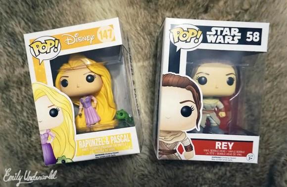 Rapunzel and Rey Pop Funkos