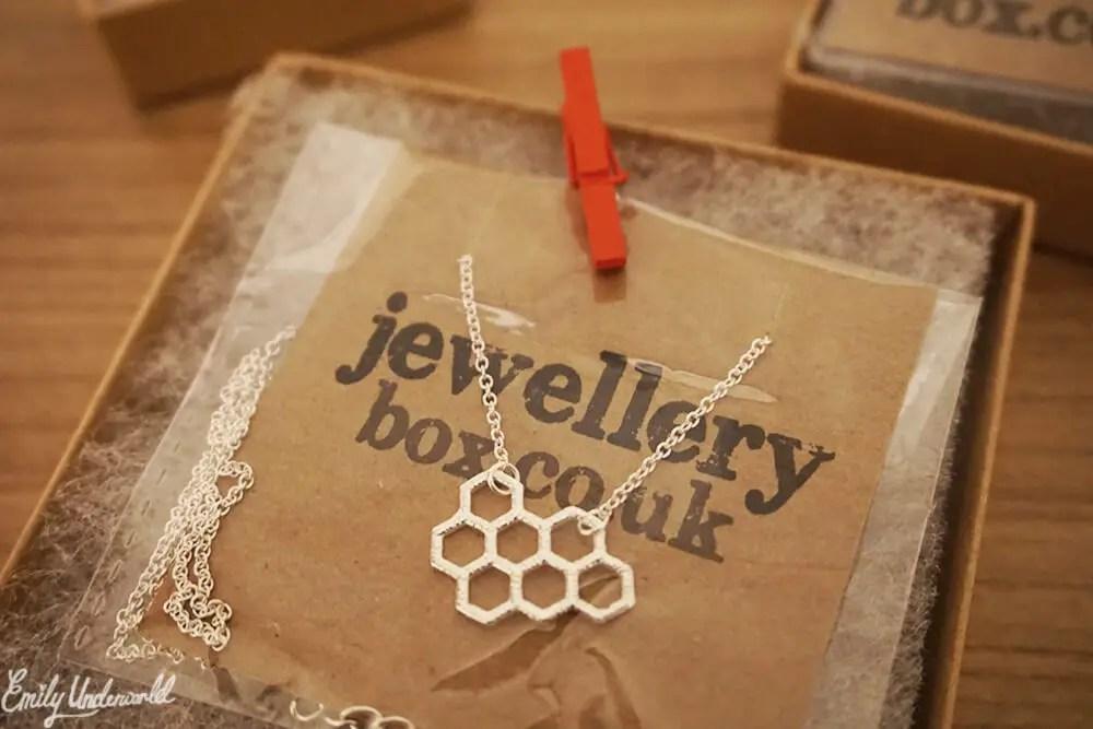 Jewellery Box Honeycomb Necklace