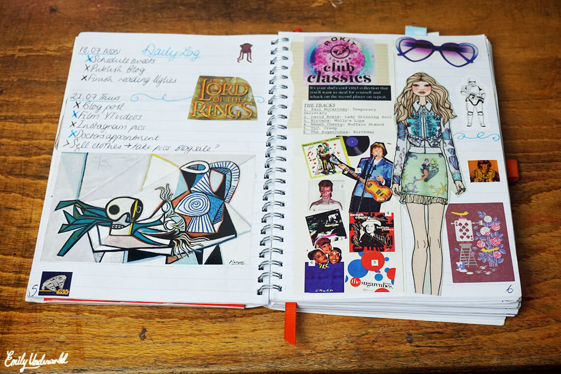 Inside My Bullet Journal: Daily Log and Collage