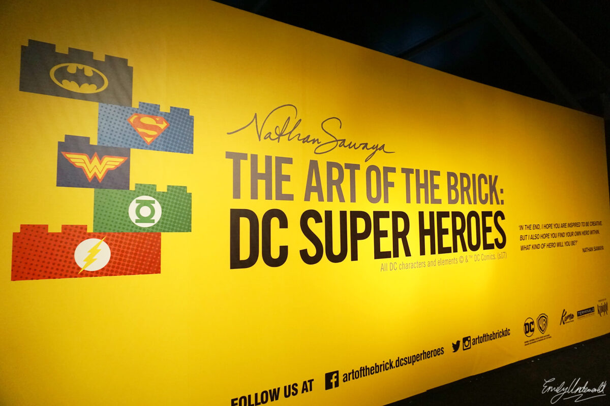 The DC Super Heroes 'Art of the Brick' Lego Exhibition