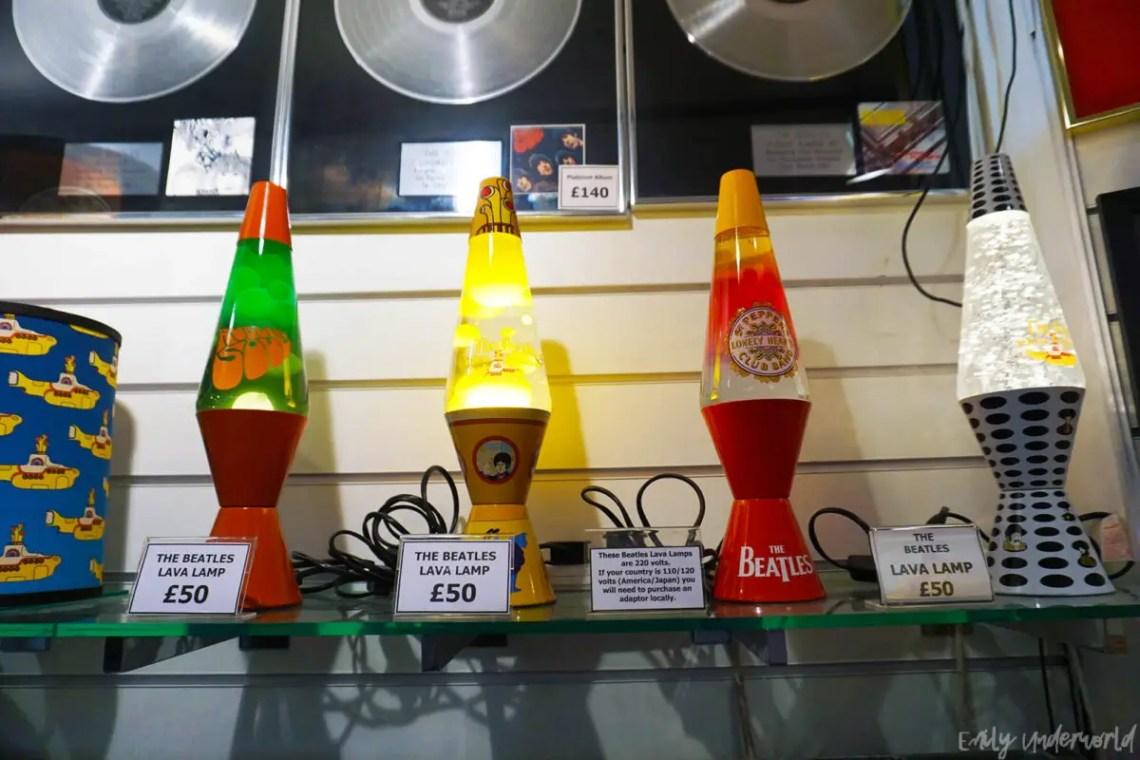 London Beatles Store Lava Lamps