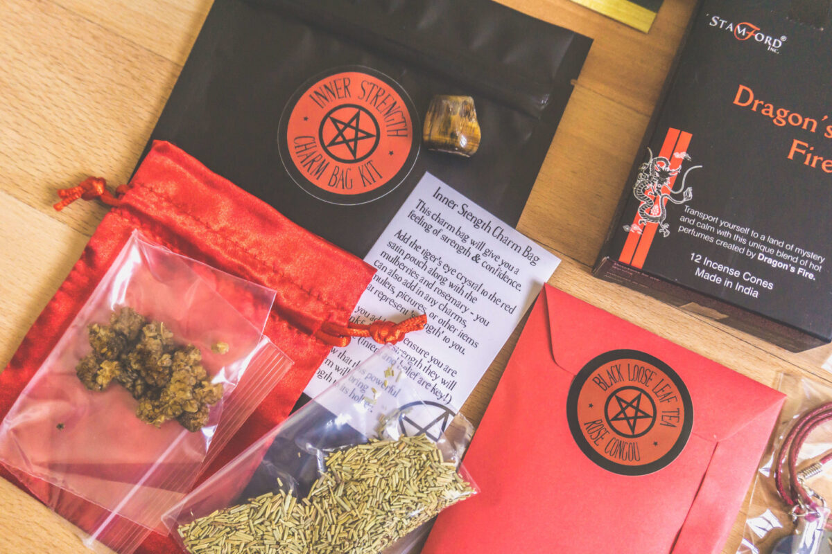 Inside Witch Casket, a subscription box for witches.