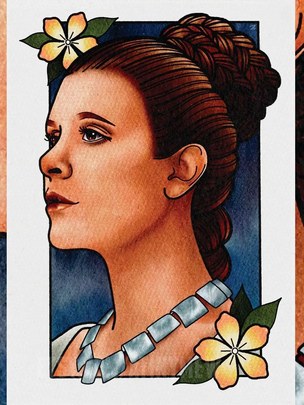 Feminist Art Prints: Princess Leia from Star Wars