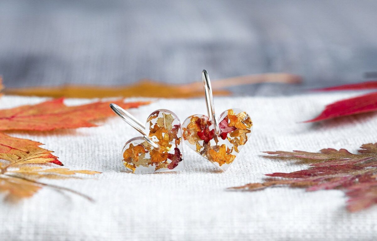 Autumn Leaf Earrings. Perfect for an Autumn Wishlist Moodboard!