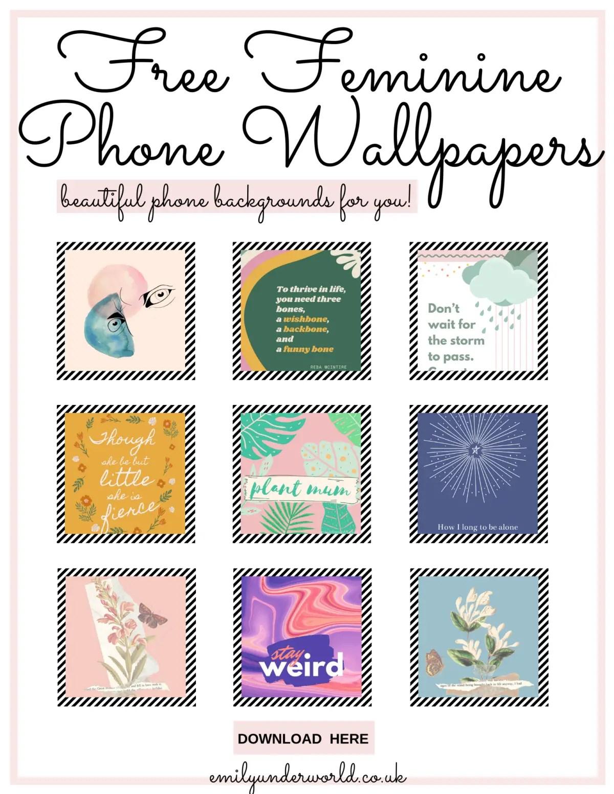 Free Feminine Phone Wallpapers