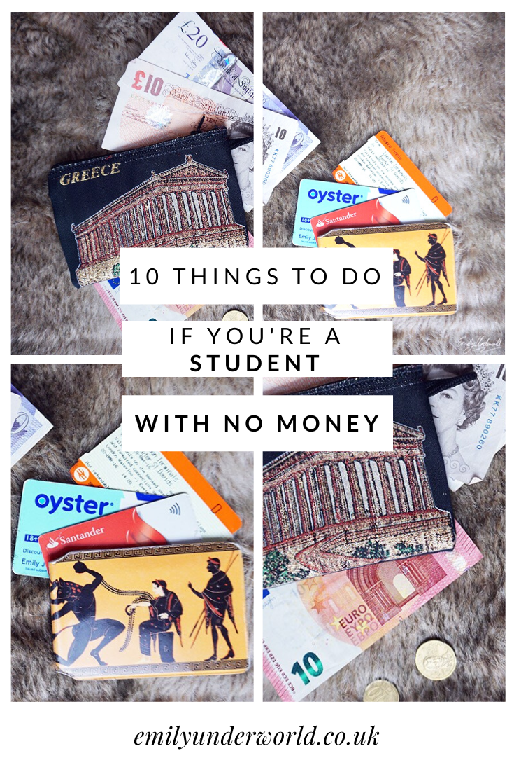 10 Things To Do If You're a Student With No Money