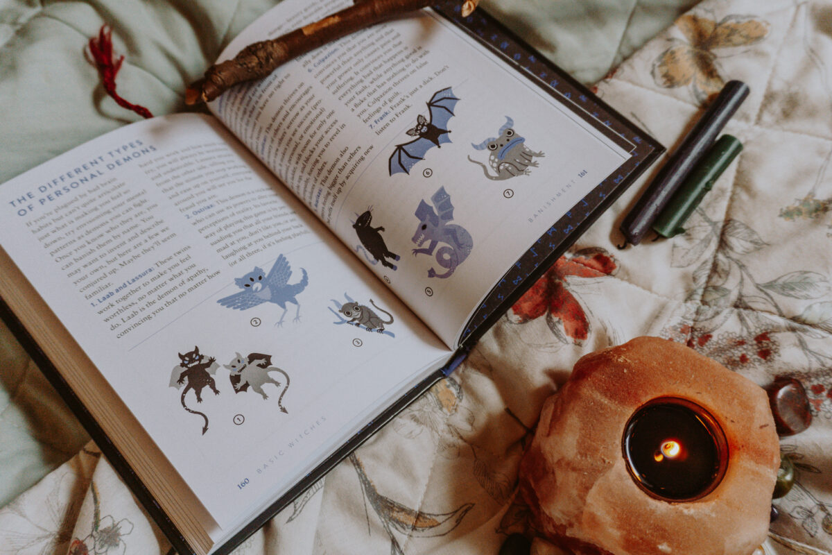 Inside Basic Witches Book for Beginner Witches.