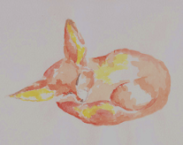 Fennec Fox Painting