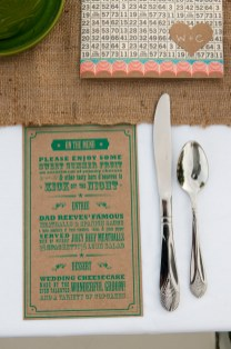 Each place setting included a menu. Photo by Robert Rausch