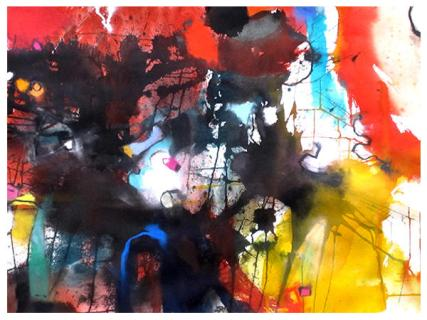 """watercolor, pastel on paper   22"""" x 30""""   $795"""