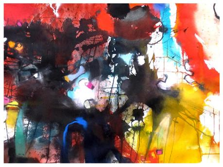 """watercolor, pastel on paper 