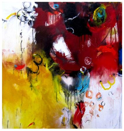 "acrylic on canvas   51"" x 45""   SOLD"