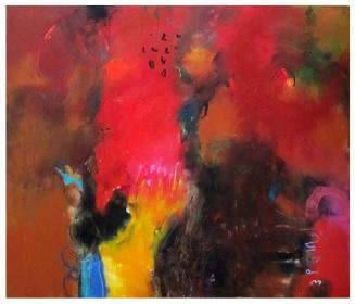 """acrylic on canvas   62""""h x 72""""w   $6100 (stretched)"""